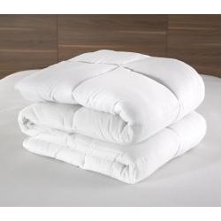 Couette Lotus 100% polyester blanc et fibres 400 g 200x200 cm (le lot de 6)