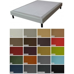 Sommier tapissier Luxe ép 26 cm finition similicuir 140x190 cm