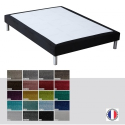Sommier tapissier Luxe ép 26 cm finition velours 80x190 cm