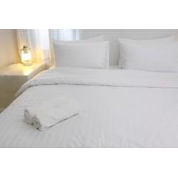 Housse de couette satin 125g blanc 155x240 cm