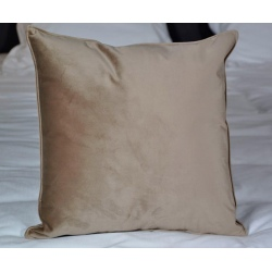 Coussin déco déhoussable tissu Elvis taupe 40x40 cm (le lot de 4)