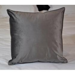Coussin déco déhoussable tissu Elvis ardoise 40x40 cm (le lot de 4)
