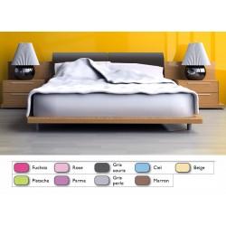 Lot de 10 draps plats couleur 240x310 cm polycoton OS 4/4