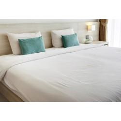 Lot de 20 draps plats coton blanc 180x310 cm