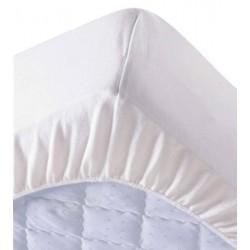 Lot de 6 protège matelas draps housses 160x200 cm 100% coton 200g