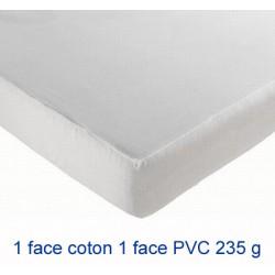 Lot de 10 protège-matelas drap housse imperméable coton et pvc 235g 90x200 cm