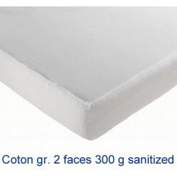 Lot de 8 protège-matelas drap housse coton gratté 2 faces 300g 200x200 cm