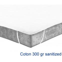 Lot de 10 protège-matelas forme plateau élastiqué aux 4 coins coton 300g 180x200 cm