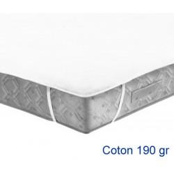Lot de 10 protège-matelas forme plateau élastiqué aux 4 coins coton 190g 200x200 cm