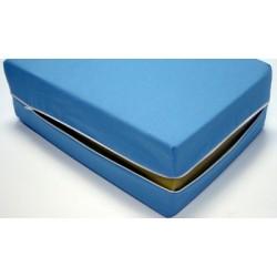 Housse de matelas ép 12 cm polyester M1 bleu 90x190 cm