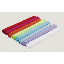 Lot de 50 serviettes microfibre 30x50 cm blanc ou couleur 210 g