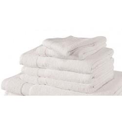 Lot de 60 serviettes de toilette 50x100 cm coton blanc ou couleur 550 g
