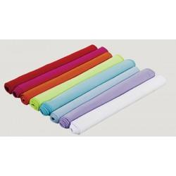Lot de 50 serviettes microfibre 80x130 cm blanc ou couleur 210 g