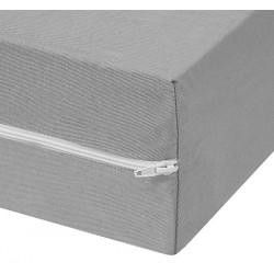 Housse de matelas polyester et polypropylène Azur ép 15 cm 90x190 cm