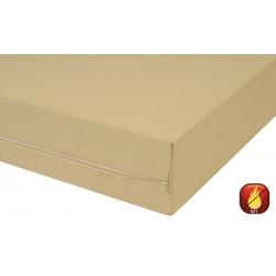 Housse de matelas polyester M1 zip acier ép 15 cm 80x190 cm